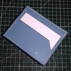 Porte-cartes bleu